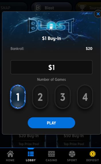 888 Blast Toernooi kiezen