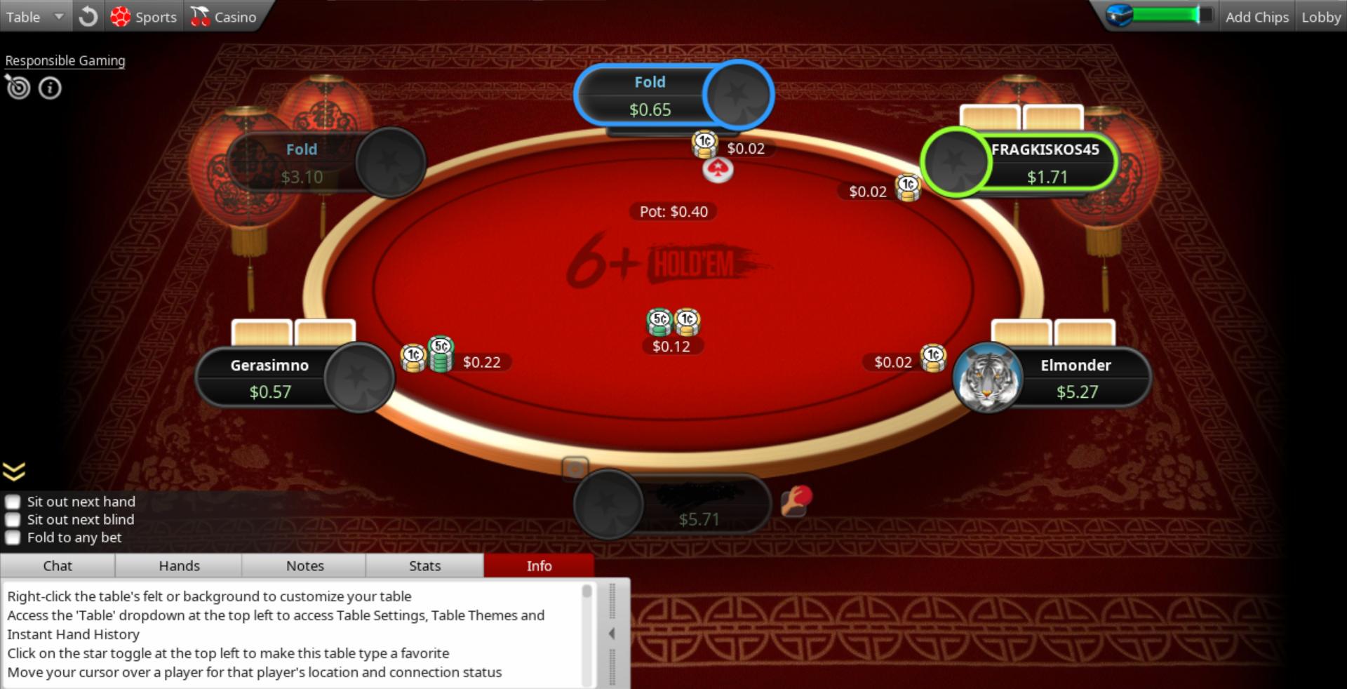 6 Holdem Pokerstars