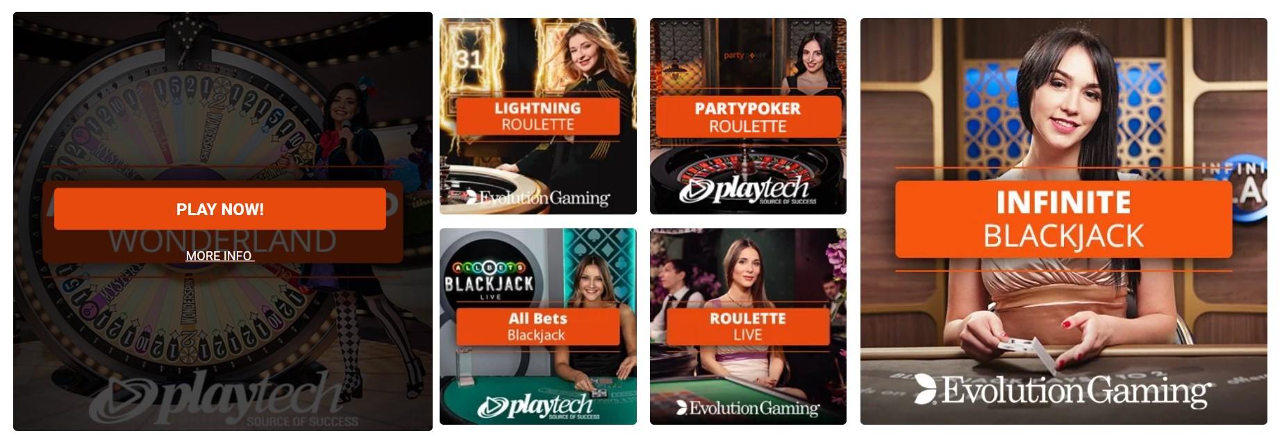Partypoker live casino