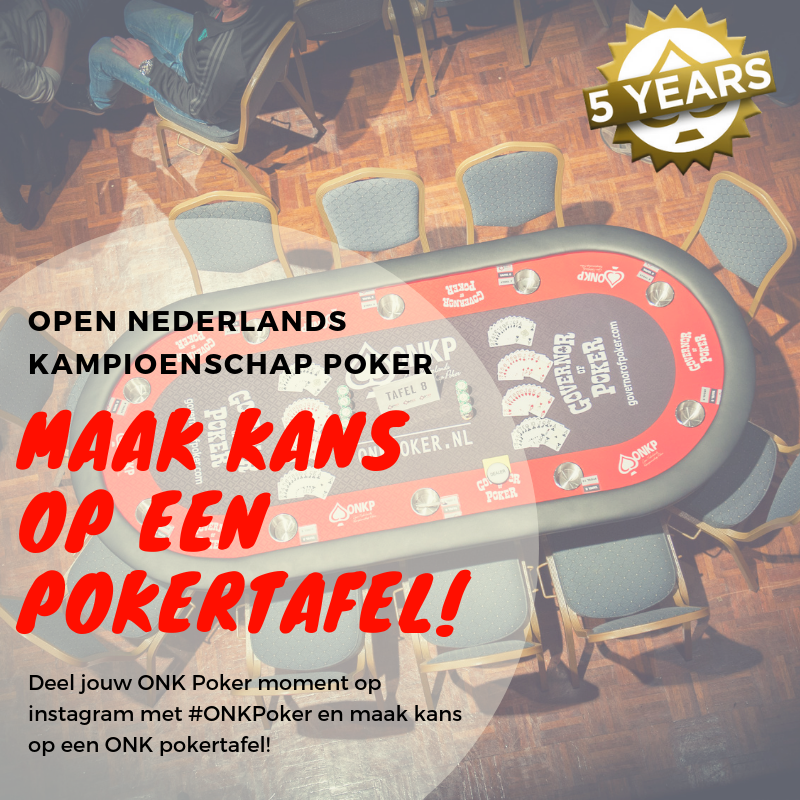 win een pokertafel