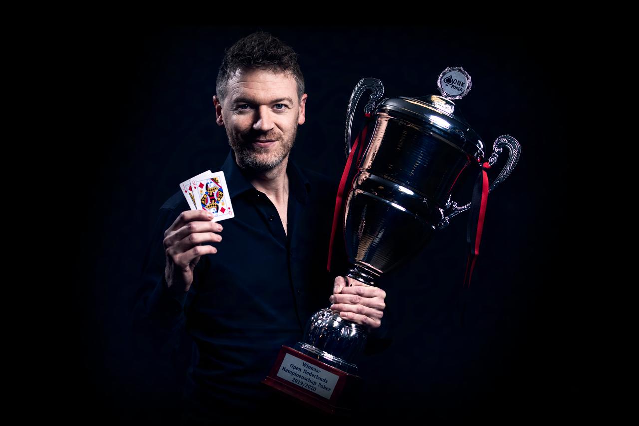 Pokerkampioen van Nederland Chiel van Eerdt