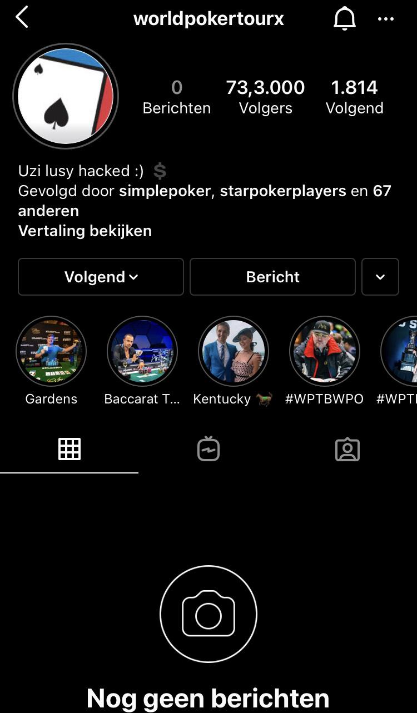 Instagram WPT gehacked