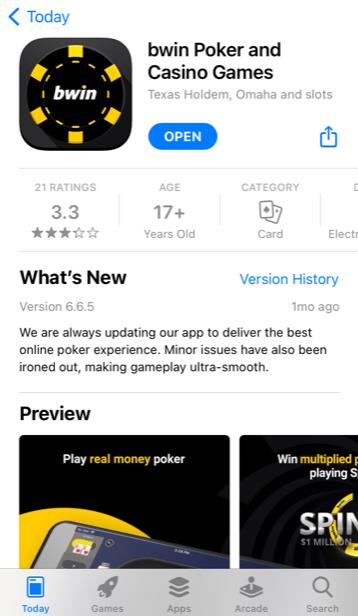 Bwin Poker download App Store