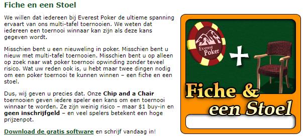 Everest Poker Stoel