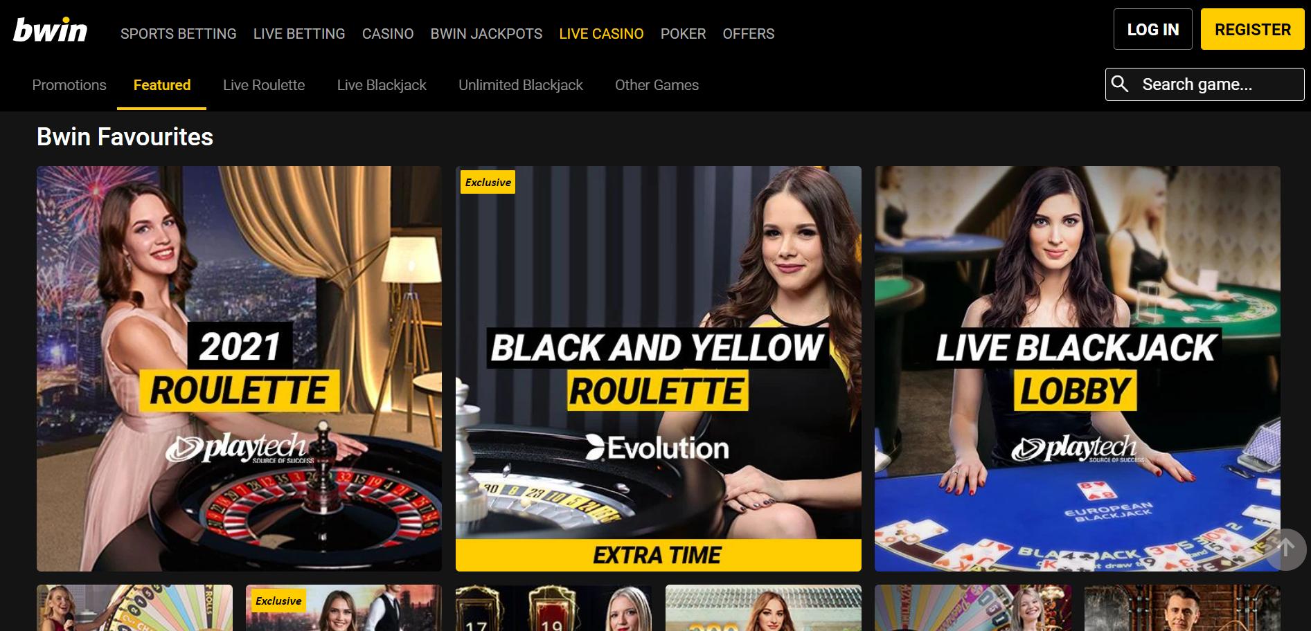 Bwin Casino browser