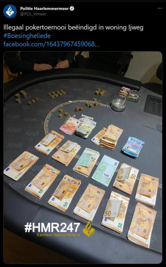 Foto politie homegame haarlemmermeer