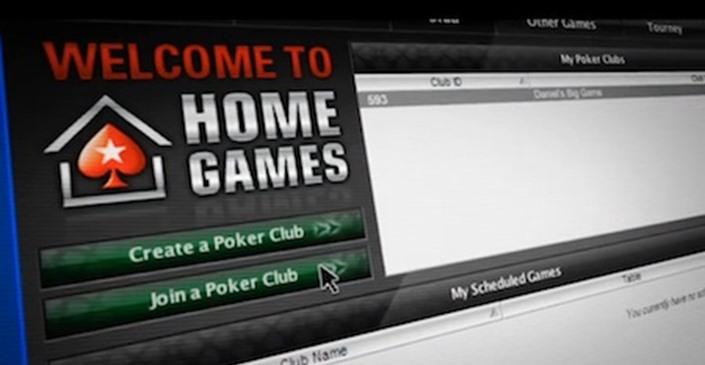 Online Poker spelen Pokerstars homegames