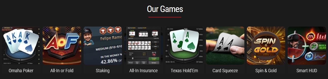 GG Poker spelaanbod