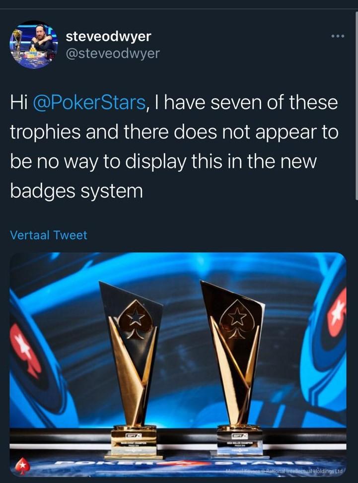Tweet steve odwyer badges