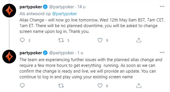 Partypoker Twitter