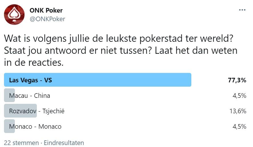 ONK Poker Twitter Poll