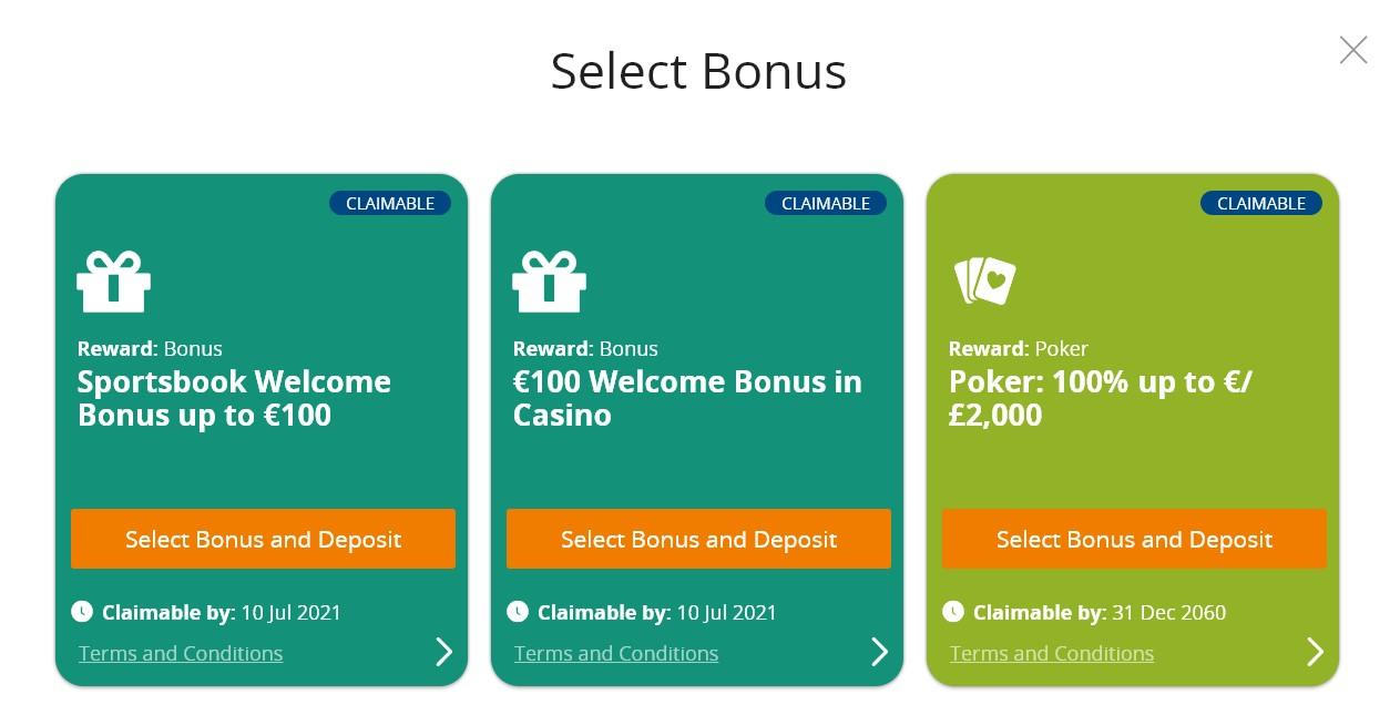 Promoties en bonussen Betsson